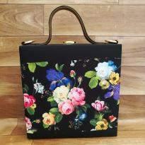 Floral Black Handbag