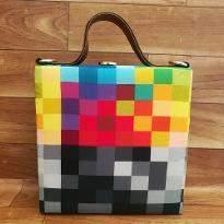 Cube Print Handbag