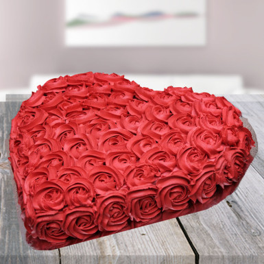 Buy Strawberry Red Rose Cake