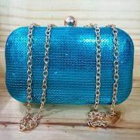 Shiny Blue Clutch