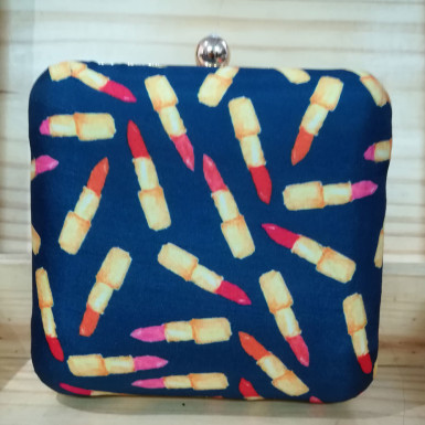 Buy Lipstick Print Clutch