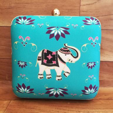 Buy Baby Elephant Print Clutch