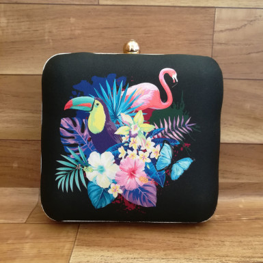 Buy Colorful Birds Printed Clutch