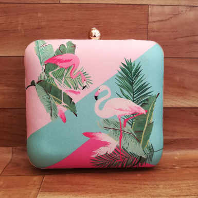 Buy Pink Flamingo Art Clutch