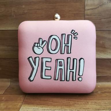 Buy Yeah Girly Pink Clutch