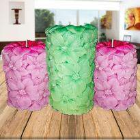 Pink and Green Candles