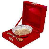 Gold & Silver Plated Brass Traditional Bowl
