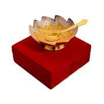Silver & gold Plated Brass Bowl