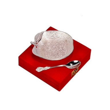 Buy Silver Plated Apple Shaped Bowl