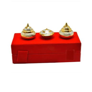 Buy Silver & Gold Plated Brass Haldi Kumkum