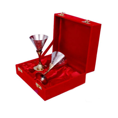 Buy Silver Plated Small Wine Glass Set