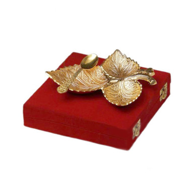 Buy Gold Plated Grape Three Leaf Platter