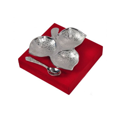 Buy Silver Plated Three Khand Platter