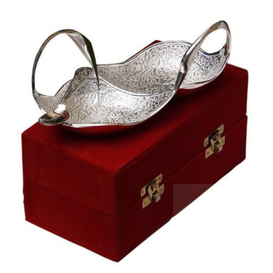 Buy Silver Plated Brass Double Swan
