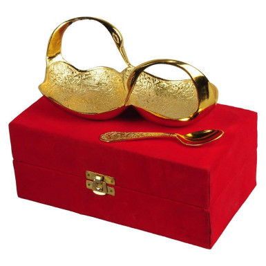 Buy Gold Plated Brass Double Swan