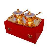 Silver & Gold Plated Brass Mouthfreshner Set