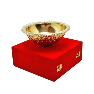 Buy Silver & Gold Plated Serving Bowl