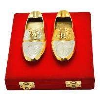 Silver & Gold Plated Shoe Shaped Ash Tray