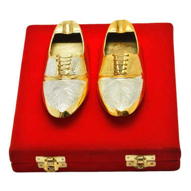 Buy Silver & Gold Plated Shoe Shaped Ash Tray