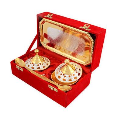 Buy Silver & Gold Plated Brass Mouthfreshner Set 5 Pcs