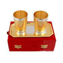 Silver & Gold Plated Glass Set of 3 Pcs
