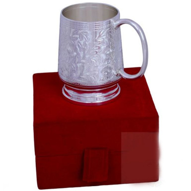 Buy Silver Plated Brass Coffee & Beer Mug