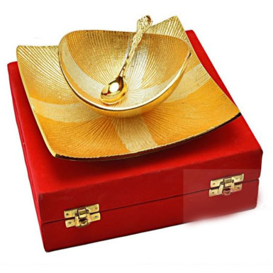 Buy Silver & Gold Plated Stylish Bowl Set of 3 Pcs