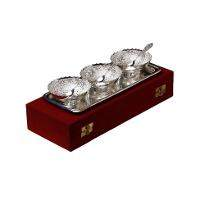 Silver Plated Brass Bowl Set of 7 Pcs