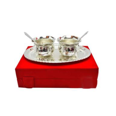Buy Silver Plated Brass Handi Set 5 Pcs