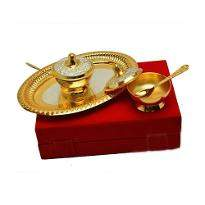 Silver & Gold Plated Brass Set