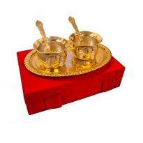 Silver & Gold Plated Handi Set of 5 Pcs