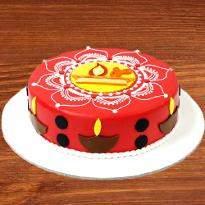 Rangoli Cake