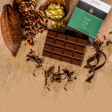 Buy Artisanal Dark Sugar Free Chocolate Bar