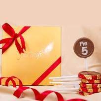Classic 5 chocolate lollipop