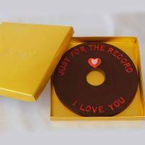 Just for the record I LOVE YOU Valentine Chocolate