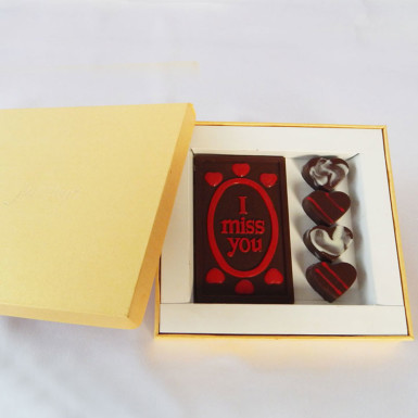 Buy Romantic I Miss You Valentine Chocolate