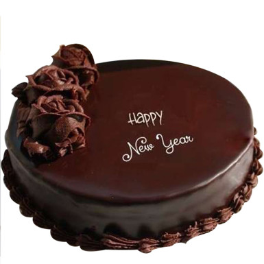 Buy New Year Plain Chocolate Cake