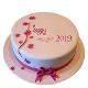 Buy New Year Vanilla Cake