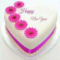 New Year Heart Shape Cake