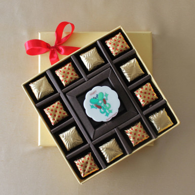 Buy Happy Anniversary Rosette with Truffles