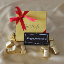 Happy Anniversary Bar with Classic Truffles