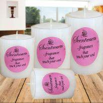 Set of 4 Scented Candles
