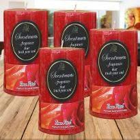 Rose Petal Candles
