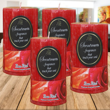 Buy Rose Petal Candles