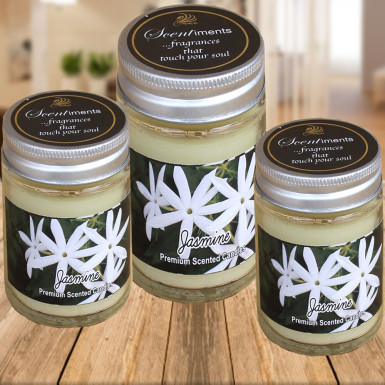 Buy Set of 3 Jasmine Scented Candles