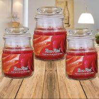 Rose Petal Jar Candles