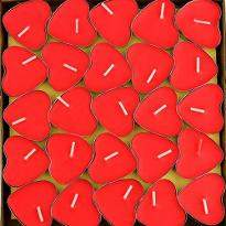 50 Heart Shape Candles