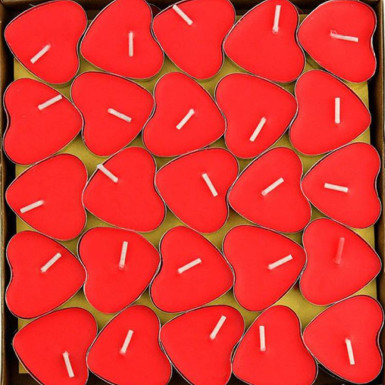 Buy 50 Heart Shape Candles