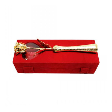 Buy Gold Plated Rose with Box and Vase