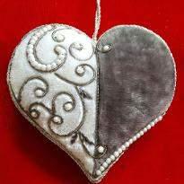 Heart Shape Xmas Tree Ornament